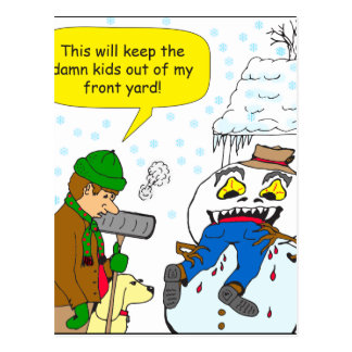 720 keep kids out of my front yard cartoon postcard