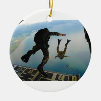 720h Special Tactics Group Jumping Out of Planet Christmas Ornament