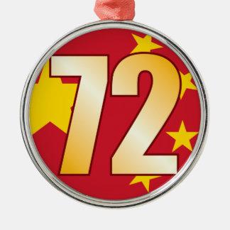 72 CHINA Gold Christmas Ornament