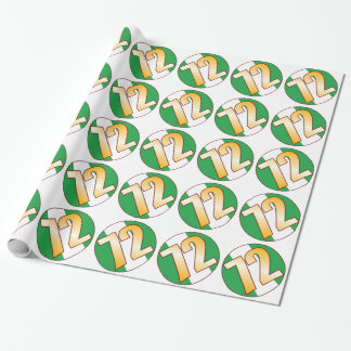 72 NIGERIA Gold Wrapping Paper