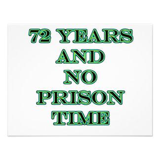 72 No prison time Personalized Invite