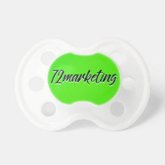 72marketing Baby Infant Pacifier Neon Green Logo