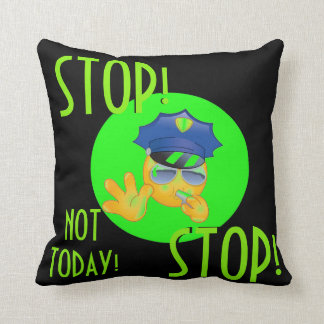 72marketing Emoji Police Officer Pillow Teen Neon