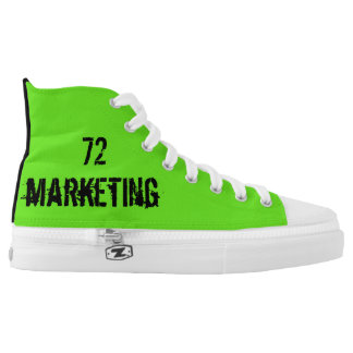 72marketing high top shoes custom