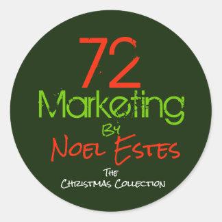 72marketing logo sticker christmas collection
