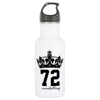 72marketing royalty water bottle reusable gym