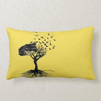 72Marketing Yellow Pillow Tree Birds Calming Roots