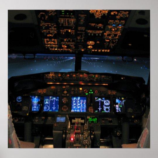 737 cockpit2 poster
