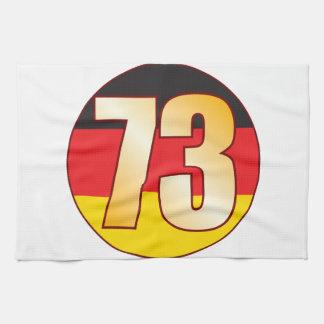 73 GERMANY Gold Tea Towel