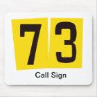 73 Ham Radio Mouse Pad  Customise Call Sign!