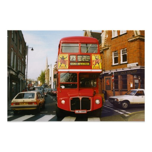 73 London Bus Full Colour Poster