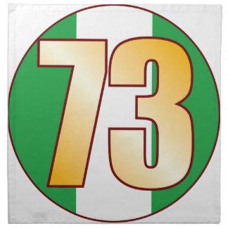 73 NIGERIA Gold Napkin