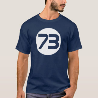 73 the best number Big Bang Sheldon t shirt