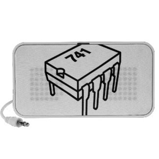 741 Op-Amp Chip (for Electronics Engineers) Notebook Speaker