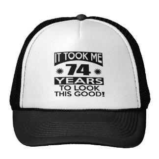 74 birthday designs cap