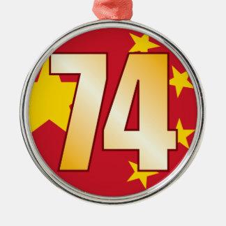 74 CHINA Gold Christmas Ornament