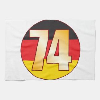 74 GERMANY Gold Tea Towel