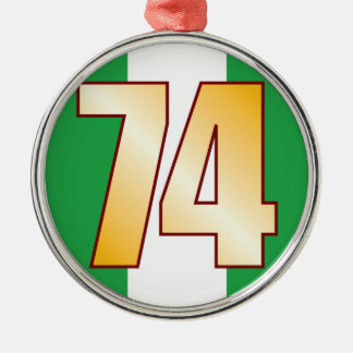 74 NIGERIA Gold Christmas Ornament
