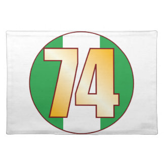 74 NIGERIA Gold Placemat