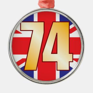 74 UK Gold Christmas Ornament