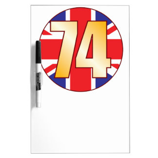 74 UK Gold Dry Erase Board