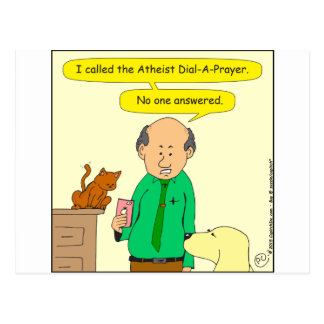 756 atheist dial a prayer postcard