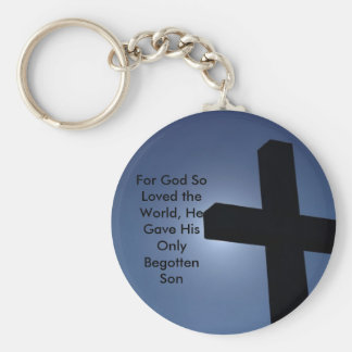 757-1232906419B2Gp, For God So Loved the World,... Basic Round Button Key Ring