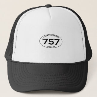 757 Hampton Roads Virginia Oval Logo Trucker Hat