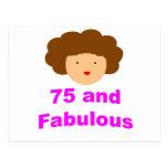 75 and fabulous postcard