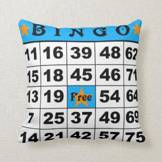 75 Ball Bingo blue/red Cushion