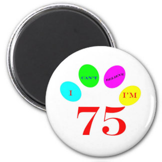 75 Balloons 6 Cm Round Magnet
