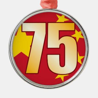 75 CHINA Gold Christmas Ornament