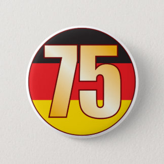 75 GERMANY Gold 6 Cm Round Badge