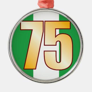 75 NIGERIA Gold Silver-Colored Round Decoration
