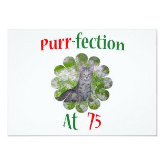 75 Purr-fection 13 Cm X 18 Cm Invitation Card