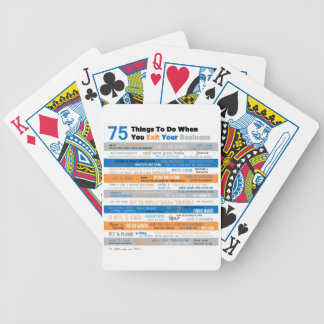 75 Things to Do After You Retire or Sell Business Bicycle Playing Cards