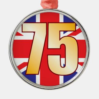 75 UK Gold Christmas Ornament