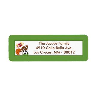 """.75""""x2.25"""" Return Address Label All-Star Green"""