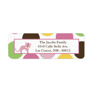 ".75""x2.25"" Return Address Label Jungle Queen Pink"