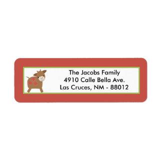 ".75""x2.25"" Return Address Label Red Barn"