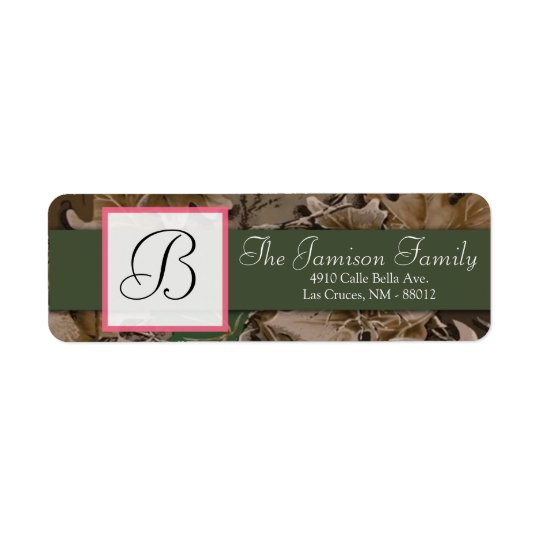 ".75""x2.25"" Return Address Pink Browning Camo"