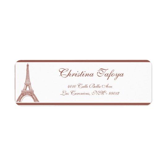""".75"""" x 2.25"""" Return Address Floral Spiral in Paris"""
