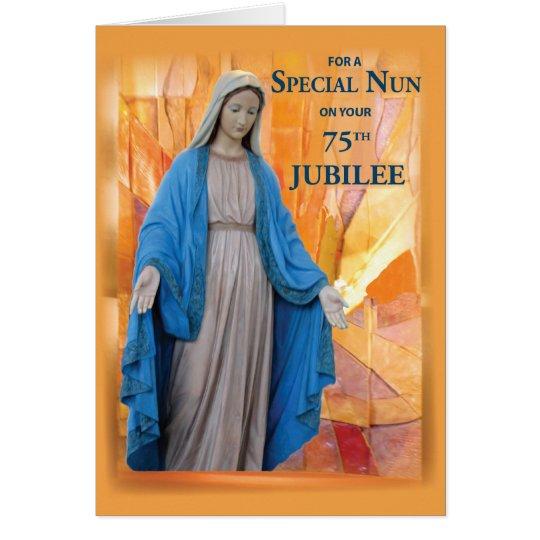 75th Anniversary Jubilee for Catholic Nun, Mary Card