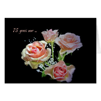 75th Anniversary Rose Bouquet Greeting Card