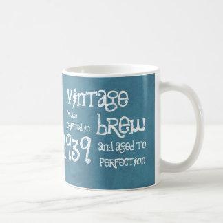 75th Birthday 1939 Vintage Brew or Any Year V75E Coffee Mug