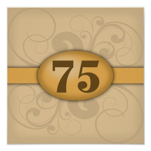 75th Birthday / Anniversary Party Posters