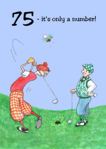 75th Birthday Card For A Golfer