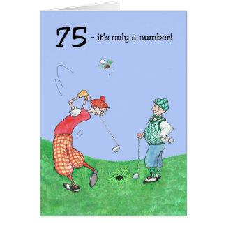 75th Birthday Card for a Golfer