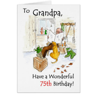 75th Birthday Card for a Grandfather