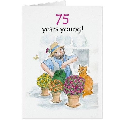75th Birthday Card - Gardener